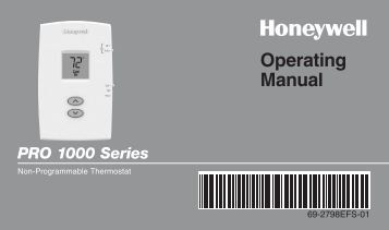 honeywell 1000 series thermostat user manual