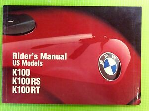 1981 bmw r100rt owners manual