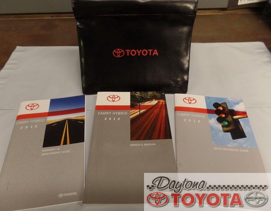 2012 toyota camry hybrid owners manual