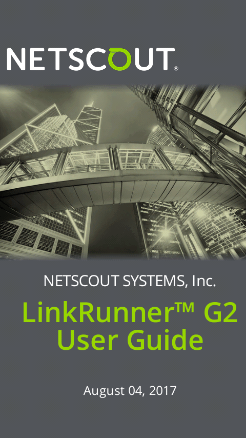 netscout linkrunner at 2000 user manual